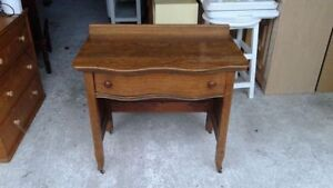 Solid wood, antique washstand