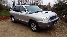 2003 Hyundai Santa Fe 2ltr 4wd Diesel. Spares or Repairs