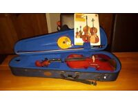 Stentor 4/4 standard student violin with case, book and disc