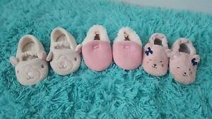 3 pairs size 3/4 slippers