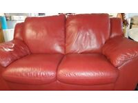 italian leather sofa suite recliner 2+1+1 only for £290