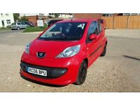 Red Peugeot 107 Urban, 1.0, 3 dr, £20 Road Tax , Low Mileage