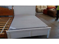 Ikea white double bed frame and mattress