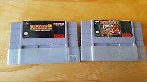**jeux nintento nes DONKEY KONG COUNTRY et PACMAN 2 (RARES)**