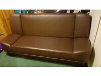 Convertible double sofa bed. 3 seater