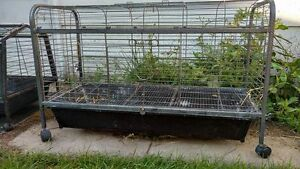 rabbit cage on weels