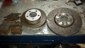 99-2005 VW JETTA/GOLF CROSS DRILLED/SLOTTED ROTORS/PADS 288MM