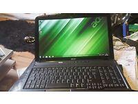 """laptop 15.6"""" dual core 2.0 3gb ram 120gb hardrive wifi dvd-writer windows 7 64 bit"""