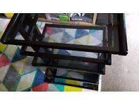 Black glass hifi / home cinema/ gaming rack stand unit