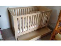Fantastic quality solid cot/cot-bed (KUB) -
