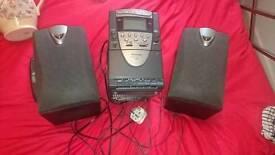 Alarm , tape player , clock cd sont work