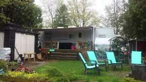 Roulotte 32ft camping les cedres