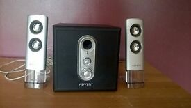 ADVENT ADE-210 2.1 Speakers for PC, TV, Laptop. Fantastic condition rarely used. £5. Will deliver.