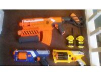 NERF guns plus walkie talkies