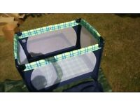 Mothercare Travel Cot. VGC includes cover and instructions