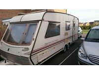 1997 Abby Spectrum 4/5 berth twin axle caravan with end washroom for sale