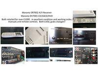 Marantz amplifier and dvd player