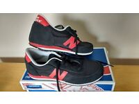 New Balance Unisex Trainers Black Red Size 6 RRP £34.99