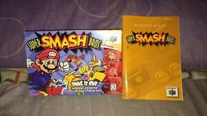 super smash brothers 64 BOX AND MANUAL ONLY