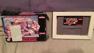 street fighter 2 II turbo with box super nintendo snes