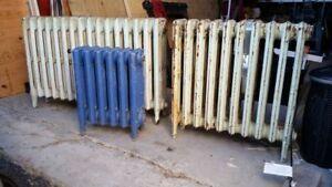 Old type cast iron radiators