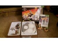 Xbox 360 Disney infinity star wars game and figures.