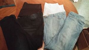 Two pairs 2x maternity jeans