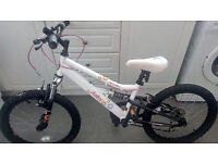 girls 20inch appollo mountain bike with 5 gears very good condition hardley used