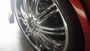"20"" DUB TIS07 RIMS and super low pro tires (need gone asap)"
