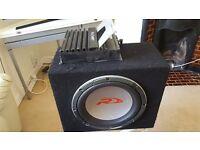 """Alpine R 12"""" subwoofer + Alpine MRD-M300 MONO amplifier"""