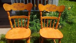 Four solid maple chairs-brand new condition-make an offer
