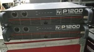 3x USED EV P1200  amplifier, 550w/ch @ 4 ohms