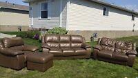 Decent leather couch set $175OBO Leduc