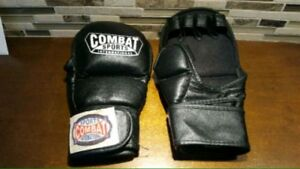 Leather Fight Combat Sports MMA Gloves - size L -