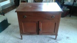 Antique, solid wood cabinet/ washstand