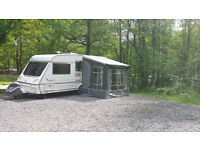 Abbey Cabaret 1999 5 berth caravan with porch awning