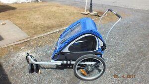 chariot vélo tranformable en poussette