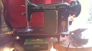 Antique Singer Sewing Machine (New motor)