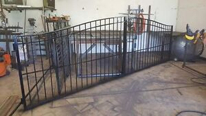 Steel Arched, and Straight Driveway Gates