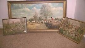 Beautiful hunting paintings.