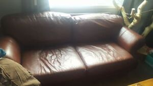 Comfortable Leather Love Seat - FOR SALE