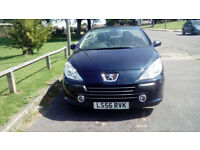 Peugeot 307cc convertibleLow mileage 2006 2 owners new cam belt & water pump