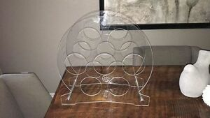 Lucite mid century modern table top wine bottle holder London Ontario image 1