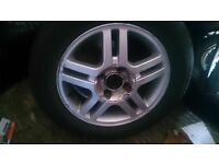 FORD FOCUS 15in ALLOY WHEELS X 3 £30, WITH FREE 195X60X15 TYRES, KETTERING