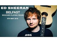 2 x Ed Sheeran Tickets for Belfast on Wed 9th May for Sale £120 each