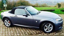 Immaculate Mazda MX5 in Grey with sport body kit LOW MILEAGE