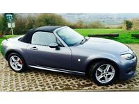 Immaculate Mazda MX5 in Grey with sport body kit LOW MILEAGE