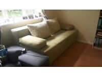 green Sofabed in good Condition (cushions included)