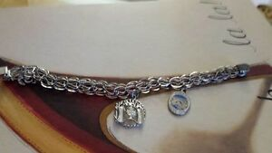 Sterling silver Bracelet and charms