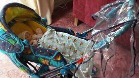 Toy Pram set with baby